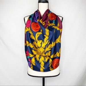 Charter Club Rich Jewel Tone Floral Silk Scarf